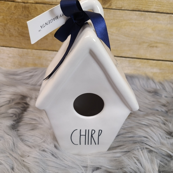 """RAE DUNN LL """"CHIRP"""" Birdhouse With Bird On Back By"""